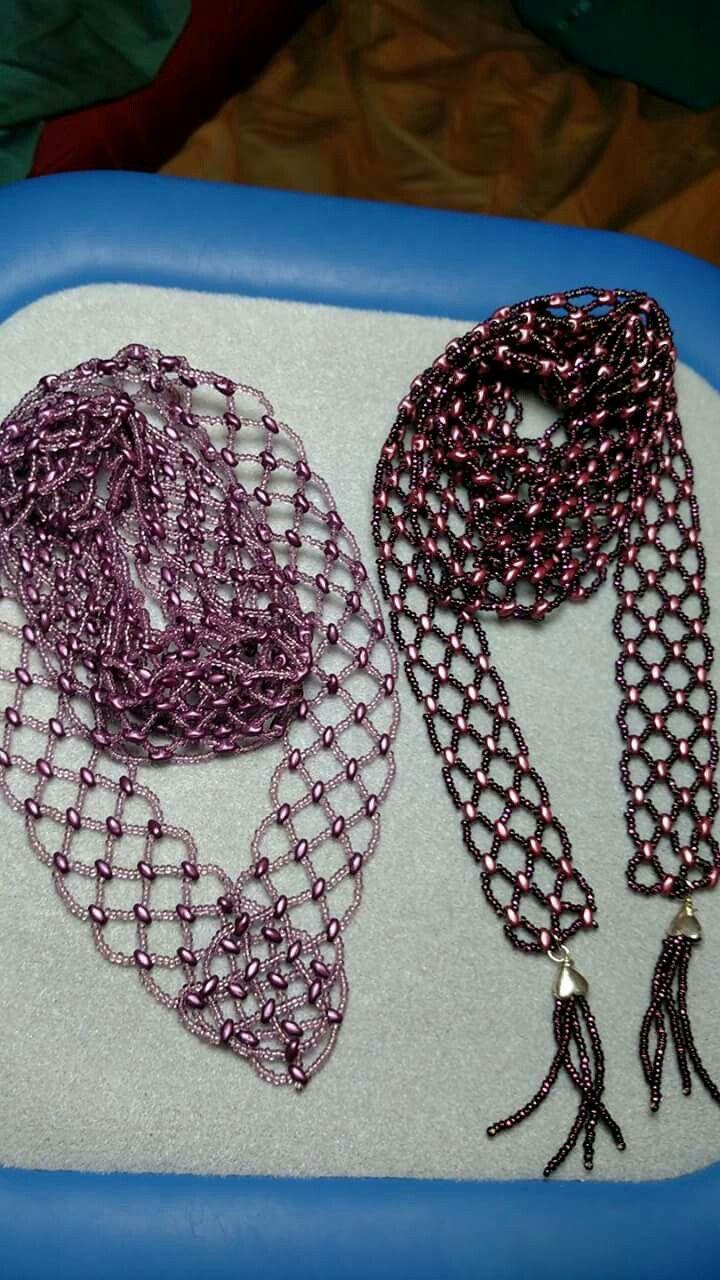 Pin de Joyce Boenne en beaded scarf | Pinterest | Patrón de ...