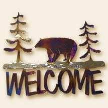 Bear Welcome Sign or Door Entry Sig