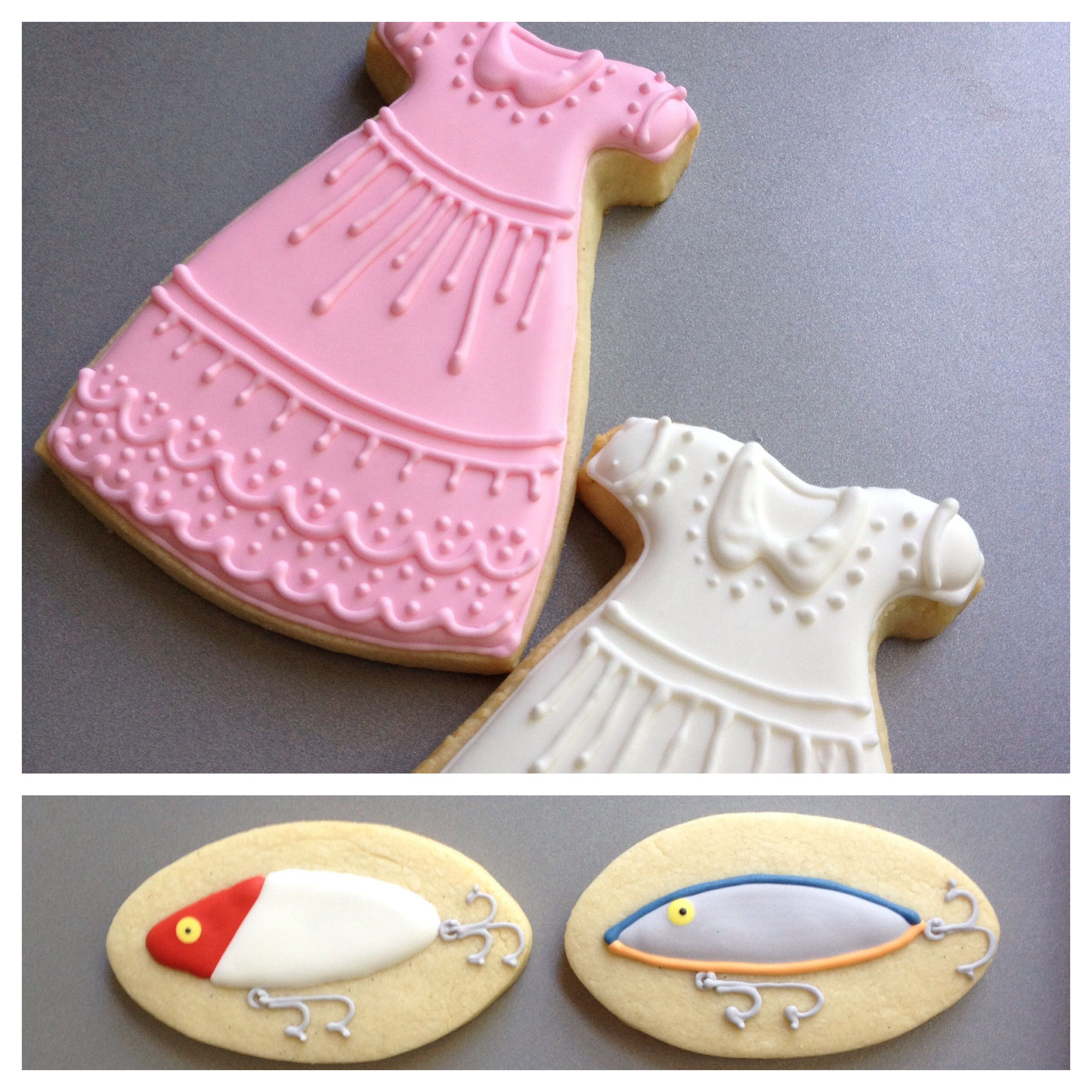 Lures and Laces. Gender reveal cookies. | Baby Shower | Pinterest ...