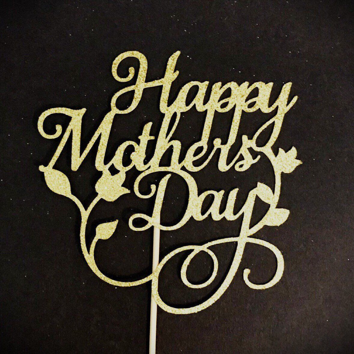 Decoration Love Acrylic Decor Cake Topper Mum Letters Print Happy Mother/'s Day