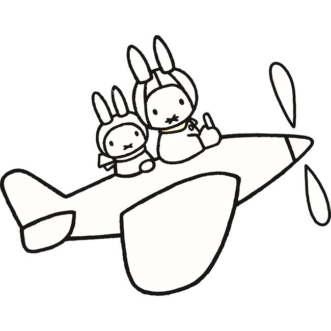 Miffy Plane Ride Coloring Pages For Kids Gwn Printable Miffy Coloring Pages For Kids Miffy Doodle Illustration Coloring Pages