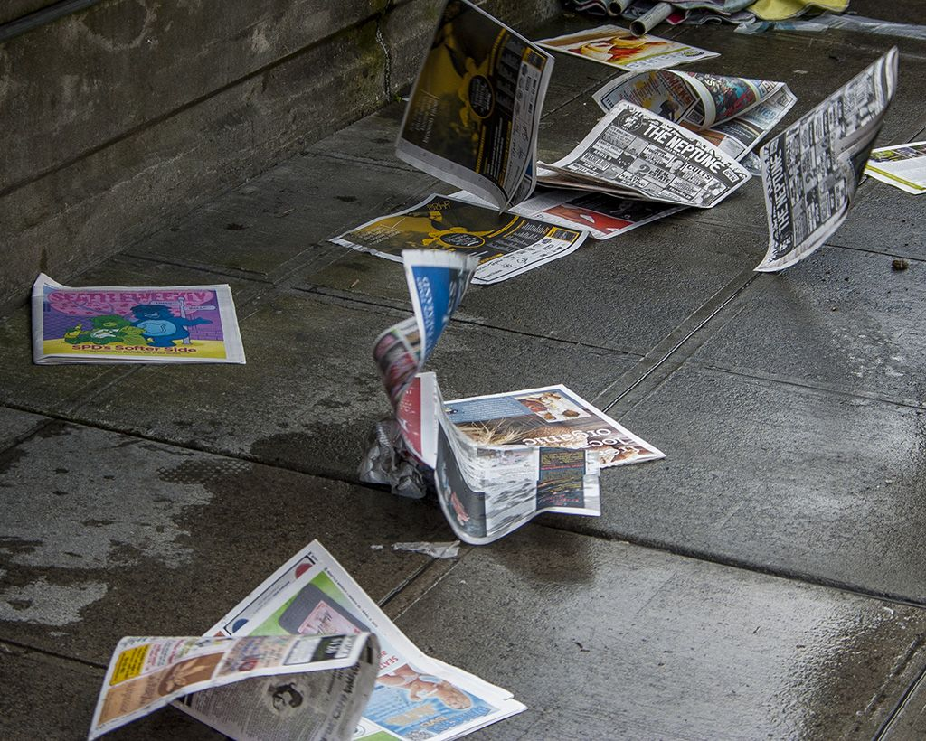 Imagine Using A Newspaper As A Flying Carpet You Could