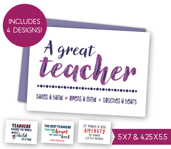 school teacher quotes printable card bundle teacher appreciation