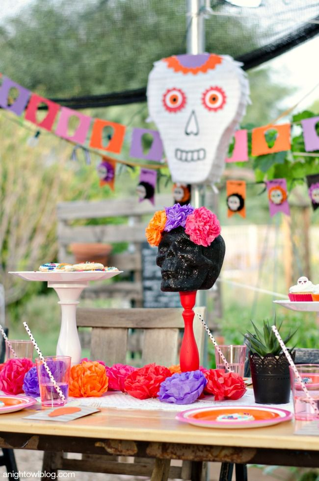 Day of the Dead Skull Pinata Silhouette, Halloween parties and - halloween ideas party