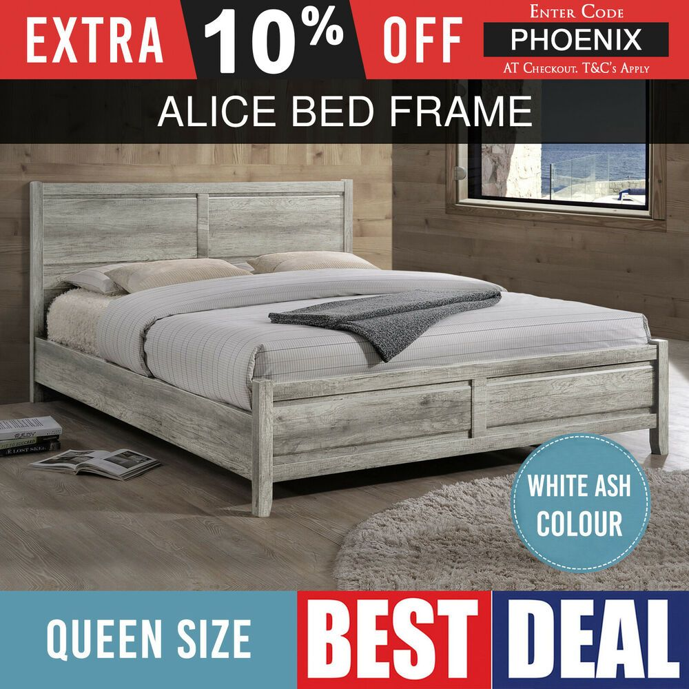 Details About Bed Frame Aesthetic Strong Leg Flat Pack Mdf Queen