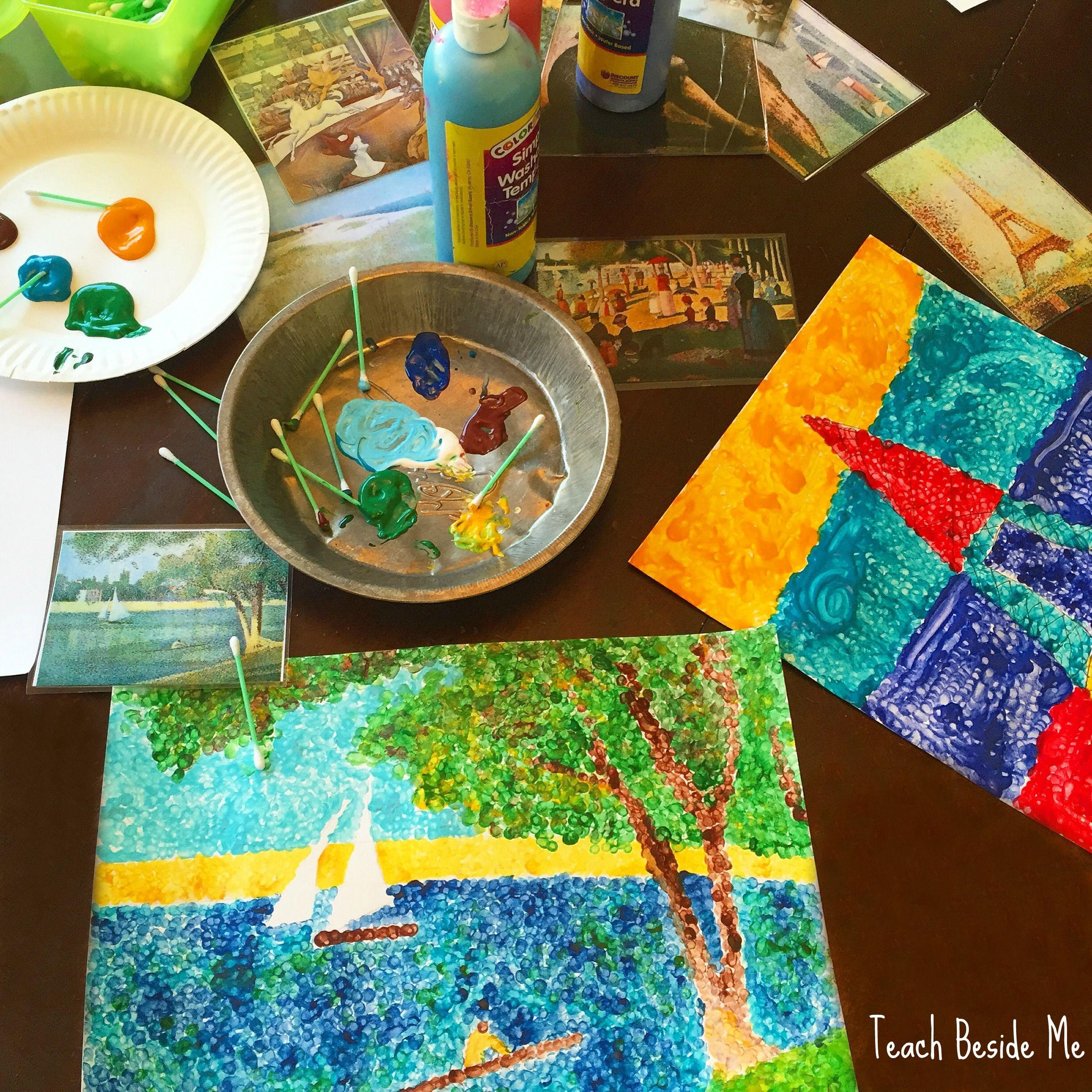 Pointillism Art For Kids With Seurat
