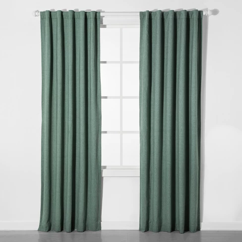Chambray Blackout Curtain Panel Pillowfort Panel Curtains Light Green Curtains Blackout Curtains