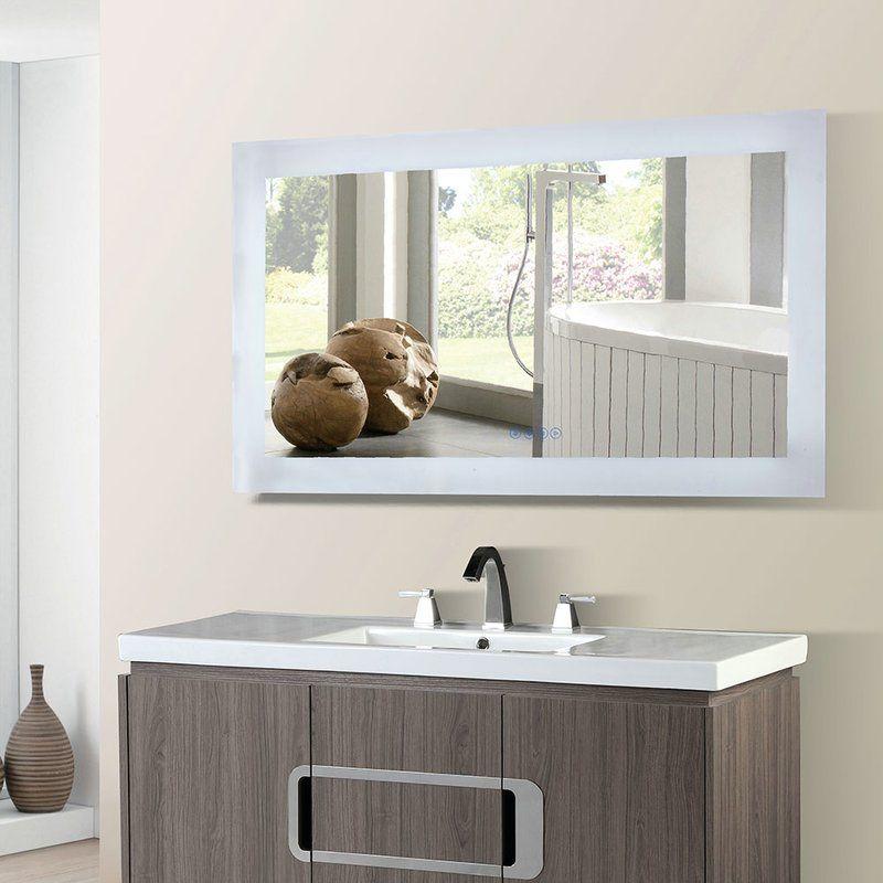 Casner Led Bordered Illuminated Bathroom Vanity Mirror With Bluetooth Speakers Luxury Home Decor Modern Bathroom Design Bathroom Vanity Mirror