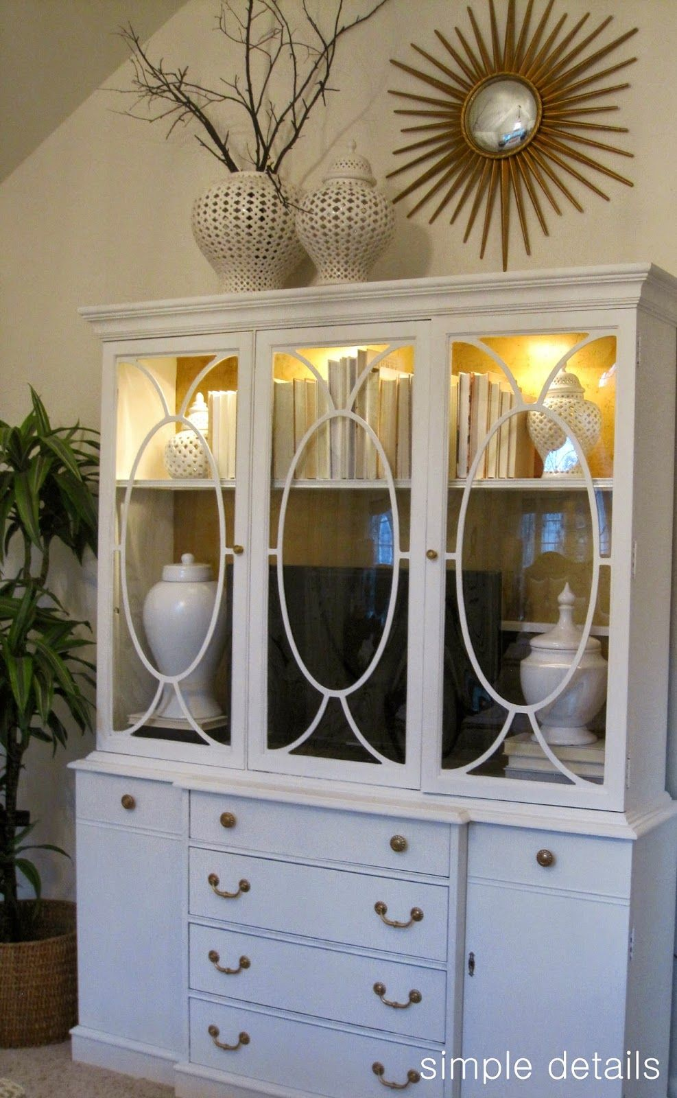 Master bedroom entertainment centers  Simple Details one room challenge  a craigslist bedroom reveal