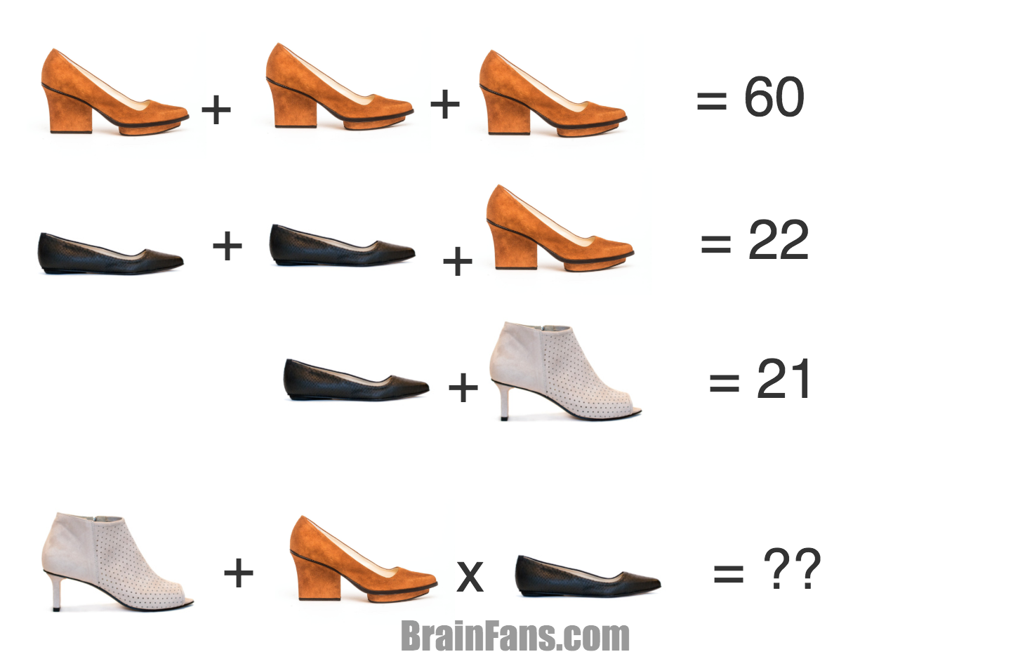 Brain teaser Number And Math Puzzle EIJK Shoes