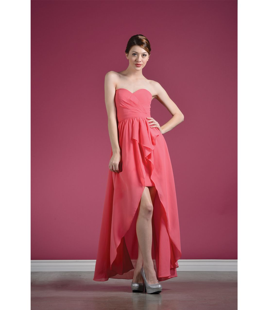 coral high low prom dress | Gommap Blog