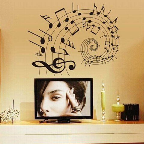 DIY Music Notes Home Decoration Decorative Wall Stickers   Music ...
