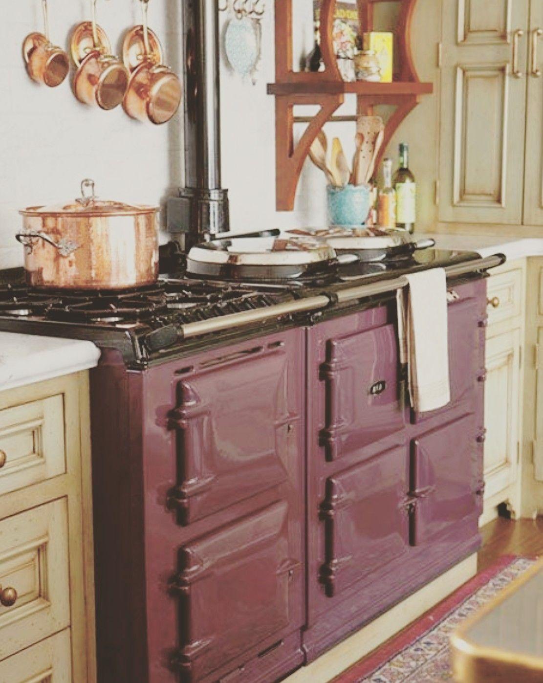 Burgundy aga Farm Kitchen Ideas Pinterest Kitchen, Cozy