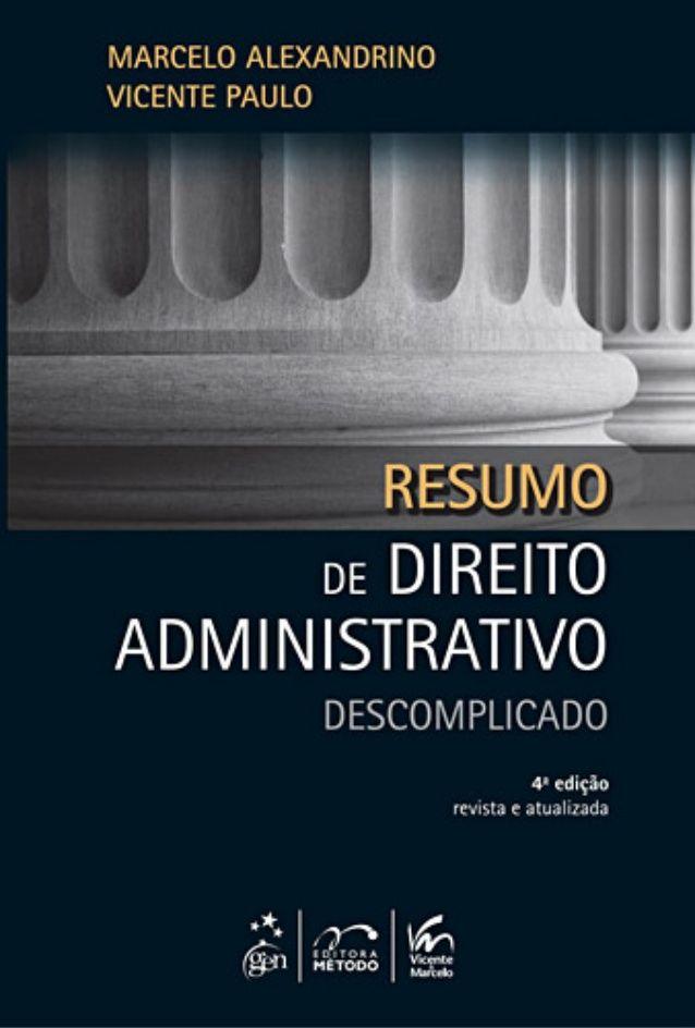 livro de marcelo alexandrino direito administrativo