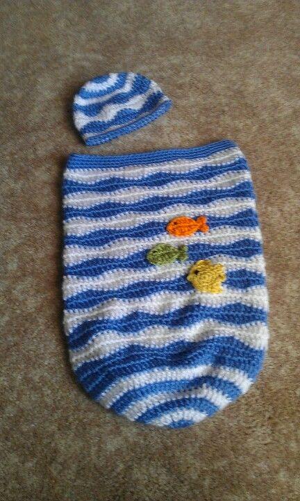 Crochet Baby Cocoon, pattern online | Colas de sirenas | Pinterest ...