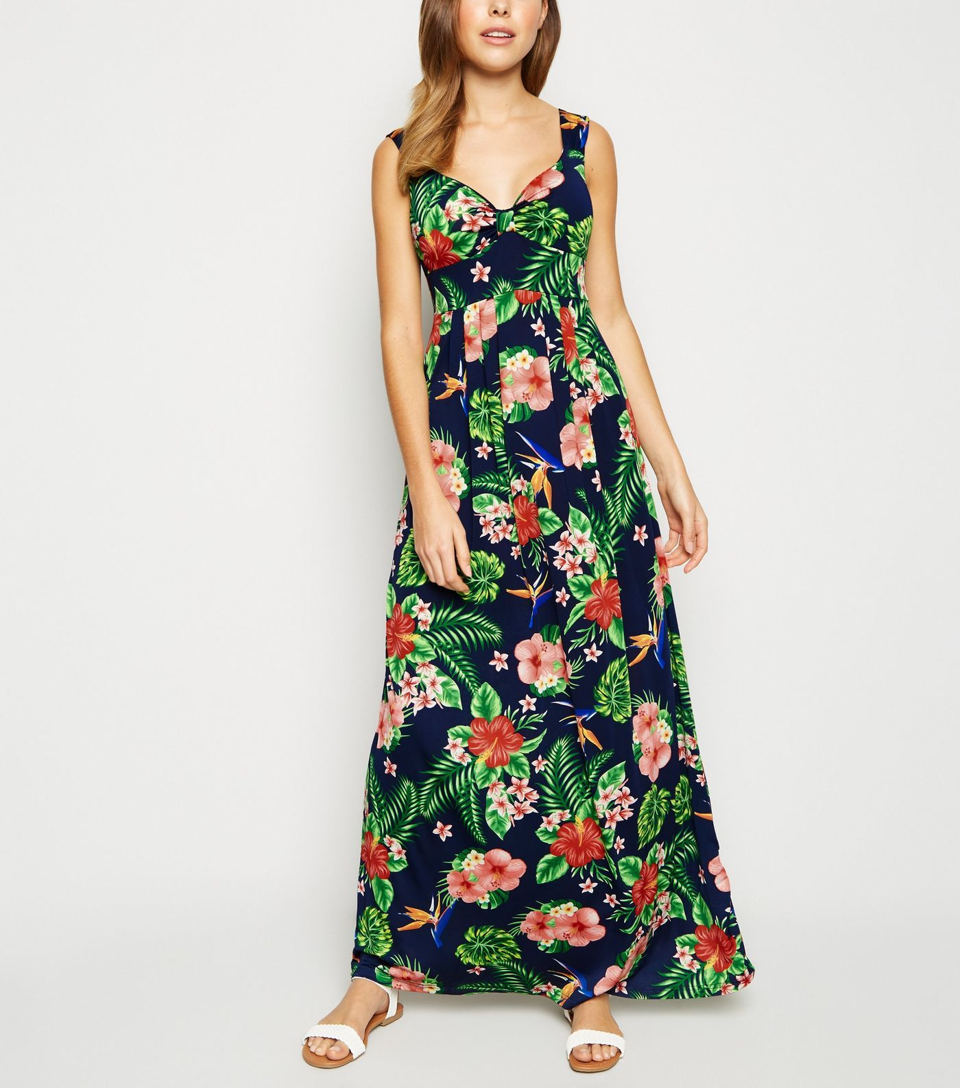 41c176d112 Mela Navy Tropical Floral Maxi Dress in 2019 | what to wear ...