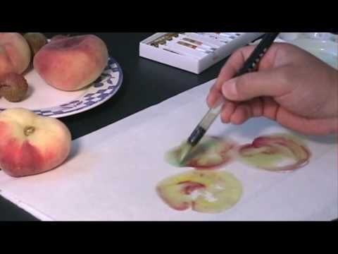 Chinese Watercolor Painting Tutorial How To Paint Donut Peach