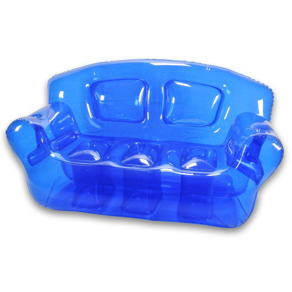 Inflatable furniture for kids - Ocean Blue Inflatable Bubble Couch
