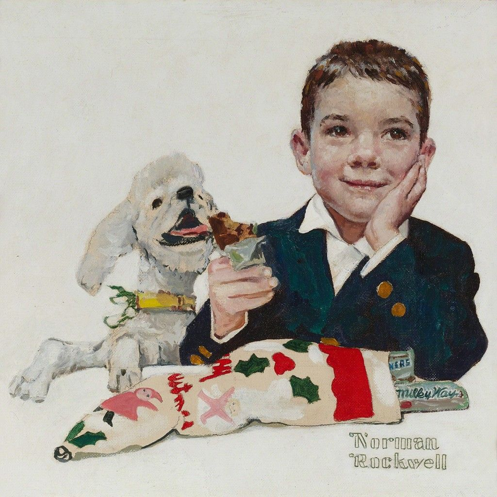Norman Rockwell Mars Candy Company Christmas Card Ca 1960