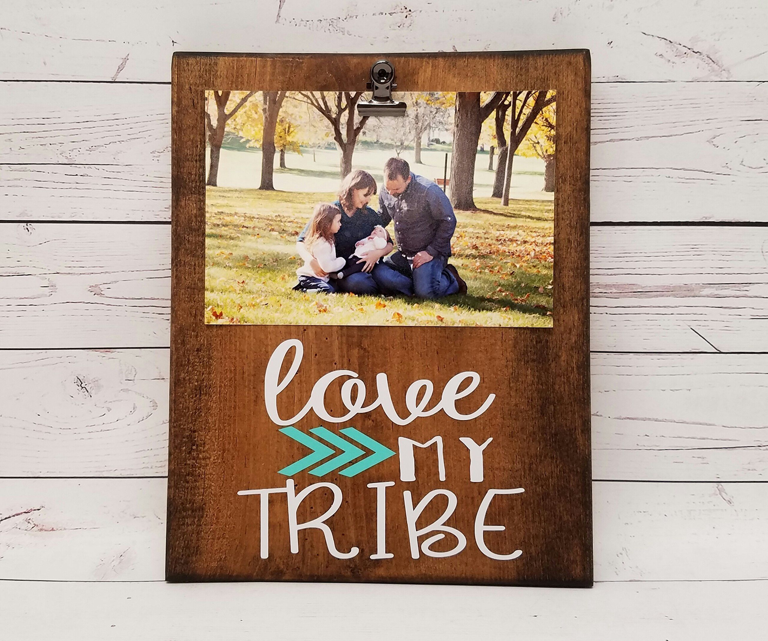 Love My Tribe Photo board, wood picture frame, photo holder with ...