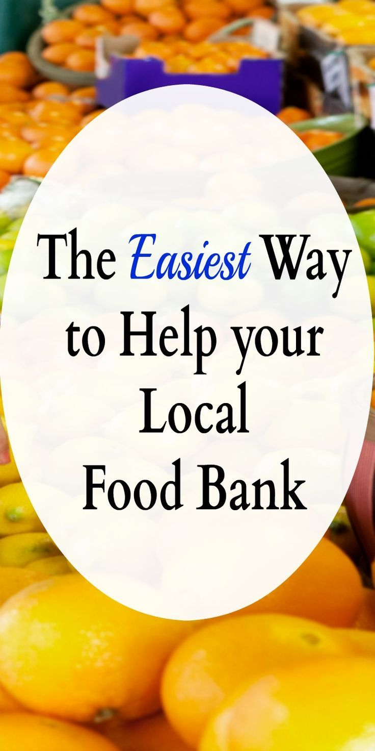 The Easiest Way to Help your Local Food Bank | Volunteer ideas and Banks
