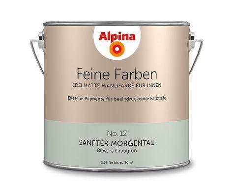 """Alpina Feine Farben """"Sanfter Morgentau"""": Das zarte Grau-Grün trägt ..."""
