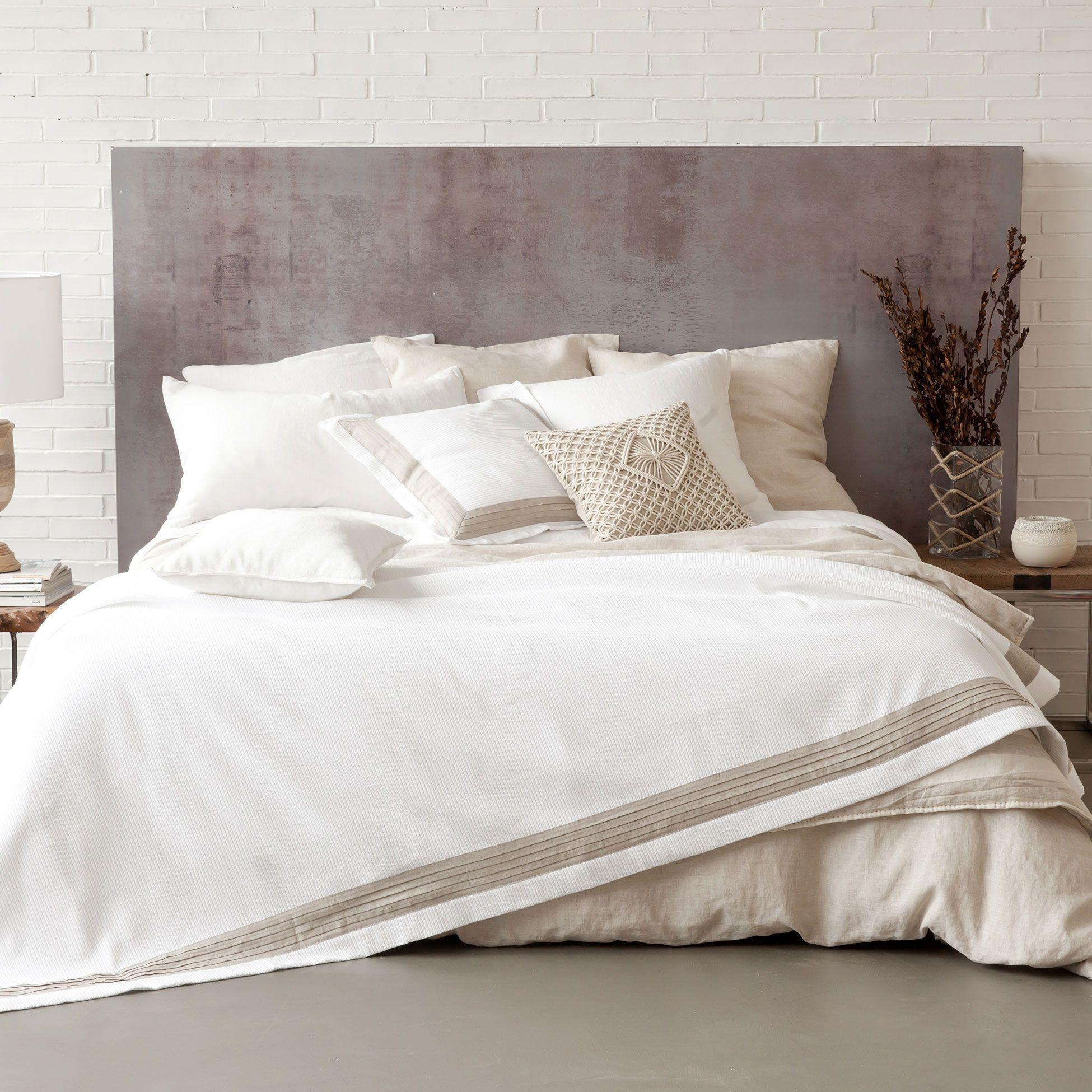 tagesdecke aus baumwolle und leinen | zara home, zuhause und macau, Schlafzimmer design
