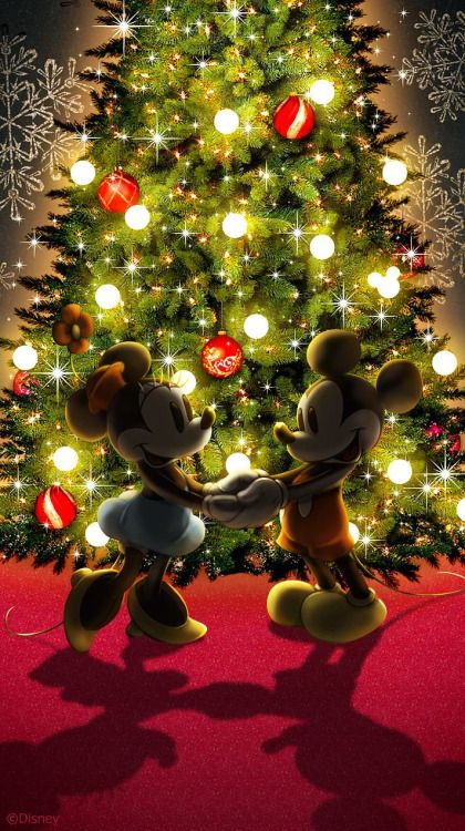 Walt Disney Christmas Wallpaper.Christmas Disney Mickey Minnie Mouse Christmas