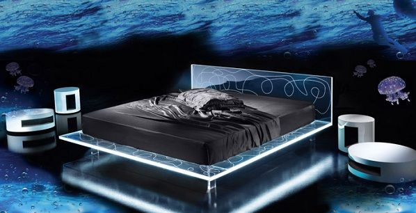 Unique bed design by Nest Italia