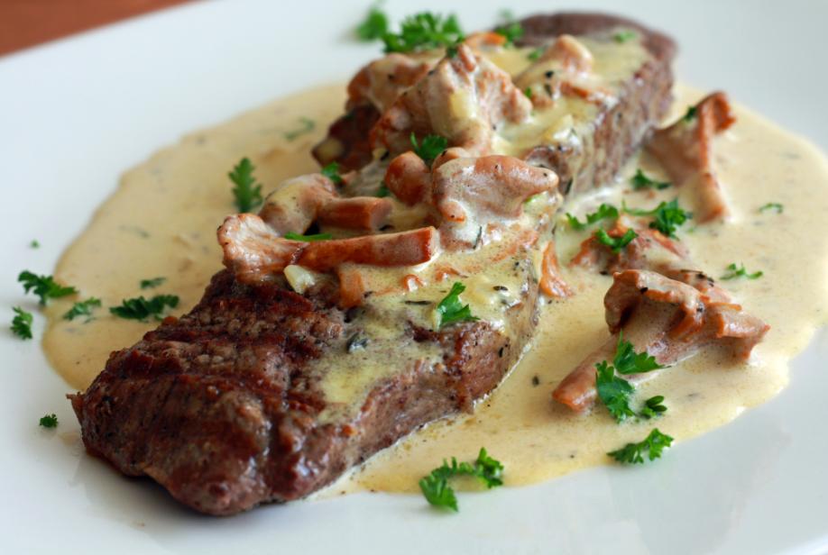 Resep Sirloin Steak With Mushroom Sauce Resep Makanan Resep Daging Sapi Makanan