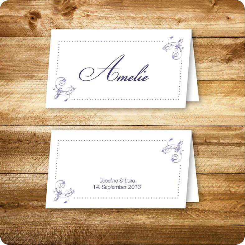 Platzkarte, Hochzeit, individuell designed by Die Kartenfrau