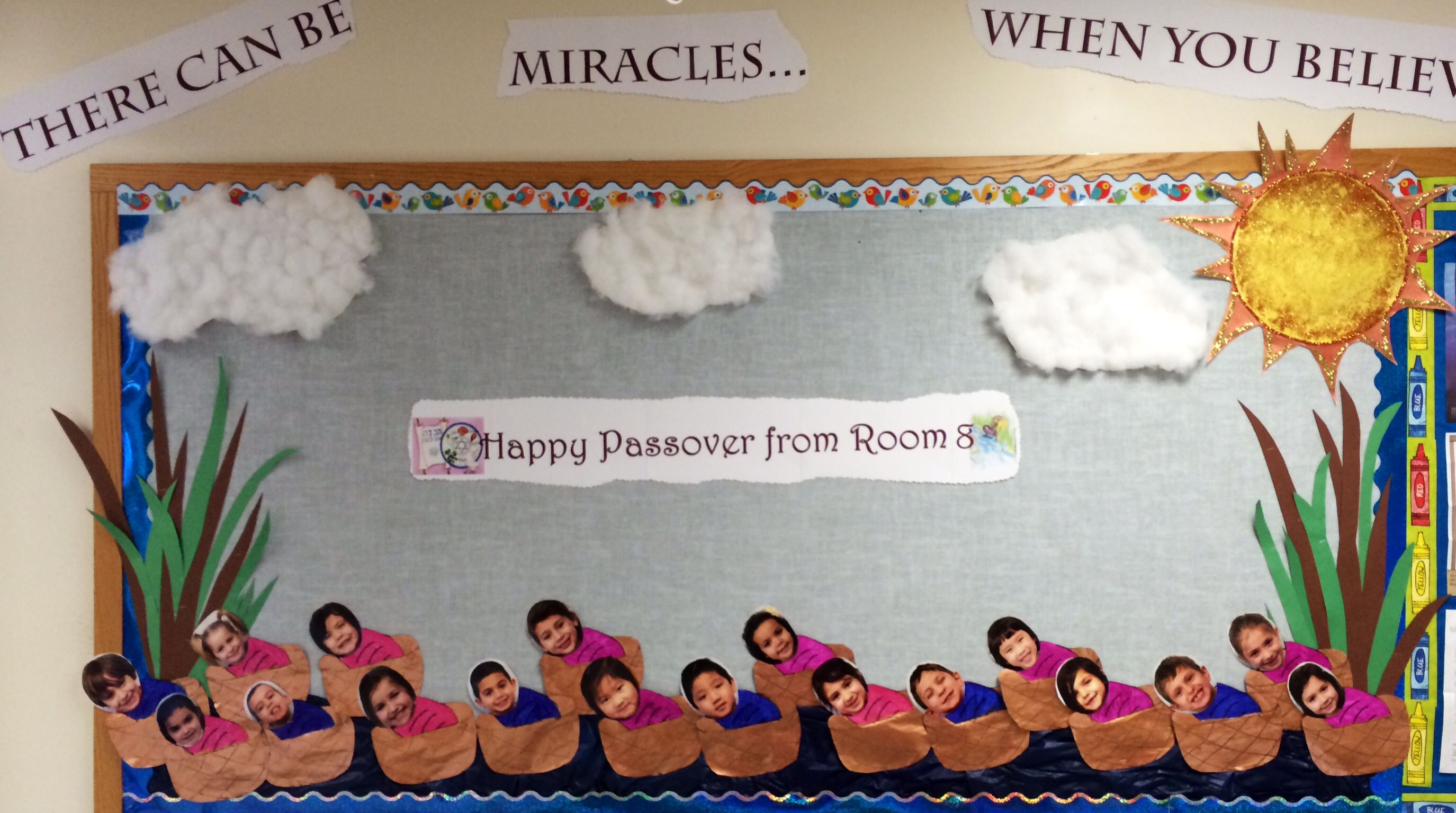 Passover Bulletin Board For My Class Look At All My Baby Moses S Passover Crafts Preschool Passover Crafts Preschool Crafts [ 1535 x 2750 Pixel ]
