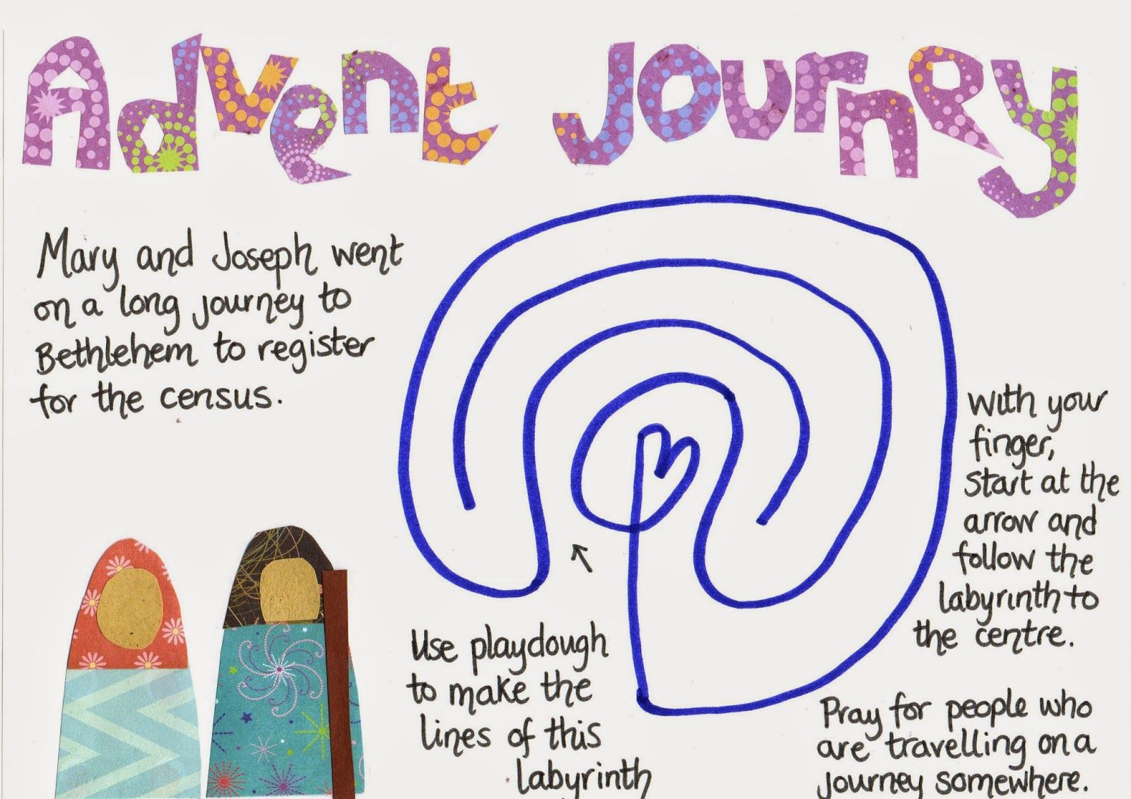 Flame: Creative Children's Ministry: Advent Journey Play Dough Mat