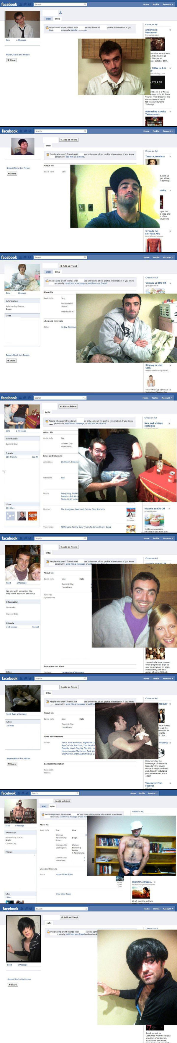 Guy dresses up as Facebook users and sends them friend requests