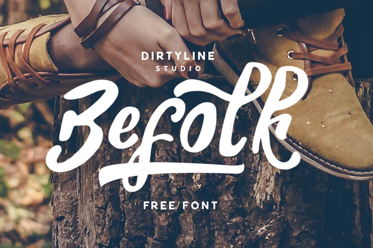 Free Befolk Brush Font Web Resources Free Brush Script Font Free Fonts For Designers Best