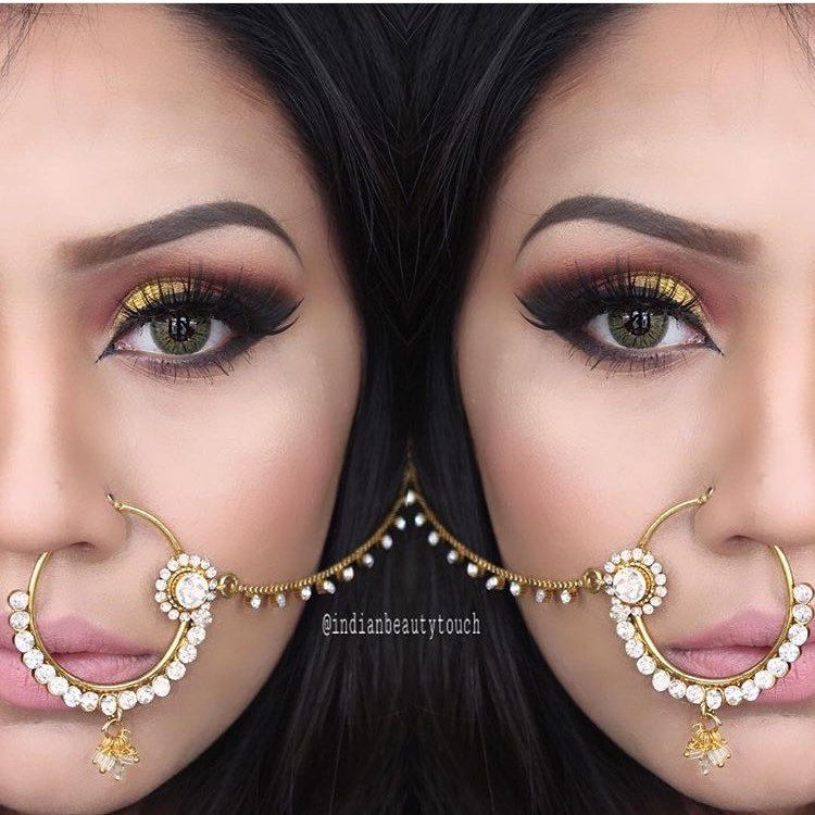 indianbeautytouch wearing our gold Kundan Nath | nose nath ...