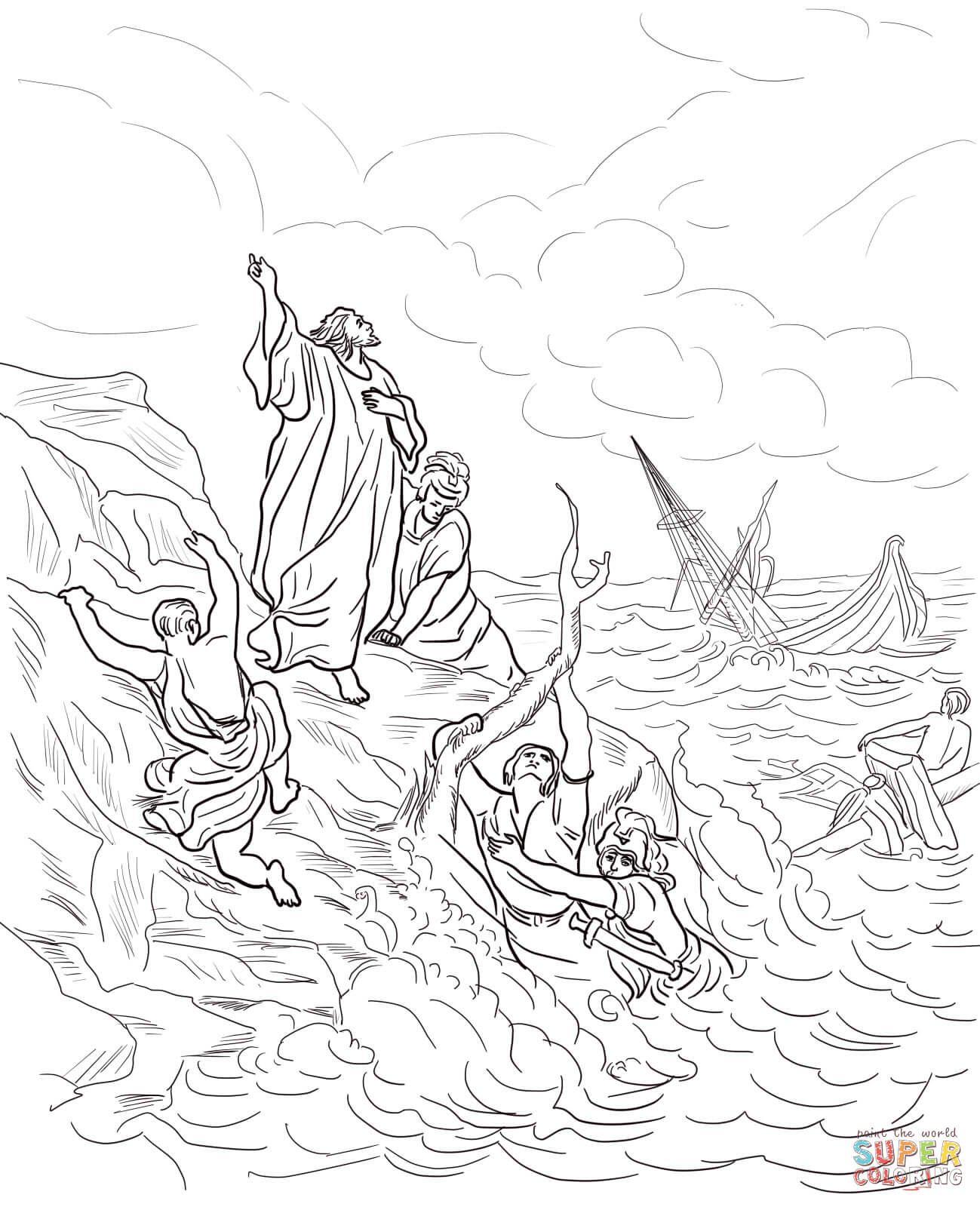 Apostle Paul Shipwrecked | Super Coloring | vasárnapi iskola | Pinterest