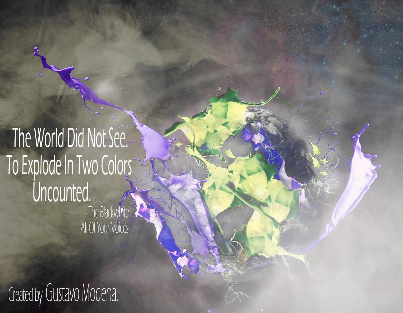 Uma de minhas músicas favoritas! Arte feita por mim. The Blackwhite - All Of Your Voices.