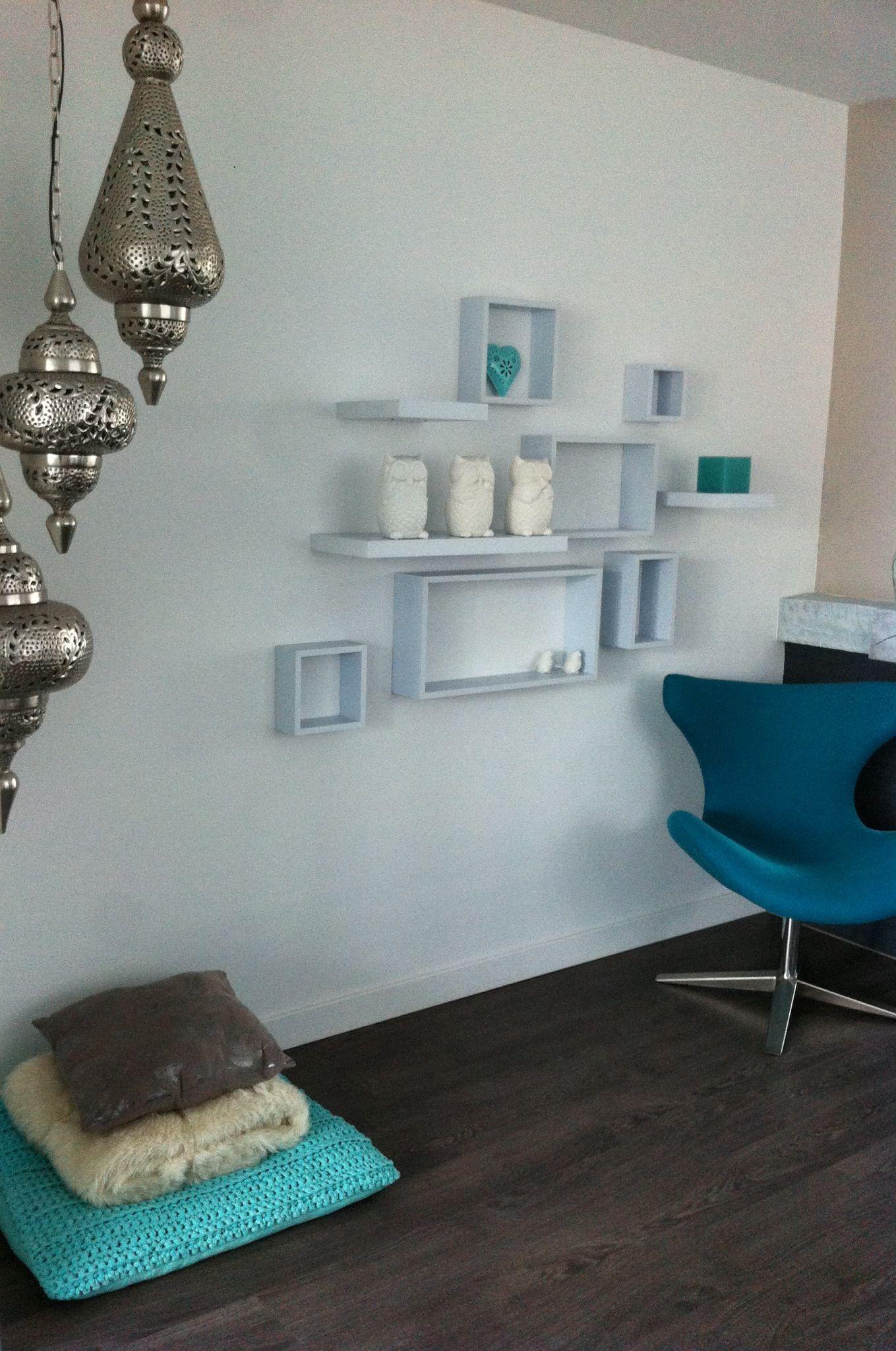 Sfeerimpressie woonkamer, like de kleuren en accesoires ...