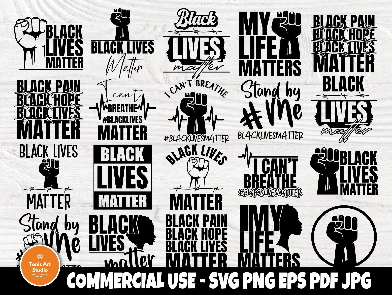 Black Lives Matter SVG Bundle, I Cant Breathe Svg in 2020