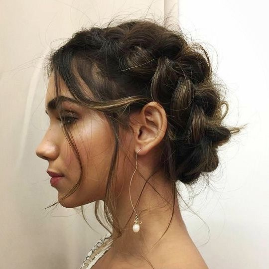 Crown Braid With Images Valentine S Day Hairstyles Hair Looks
