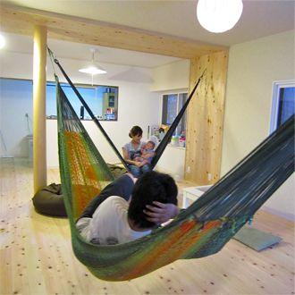 室内ハンモック設置方法 ハンモック ブランコハンモック 浮遊