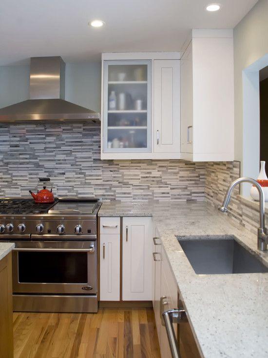 """Chicago Kitchen Remodeling Decor kitchen backsplash """"white cabinets"""" design, pictures, remodel"""
