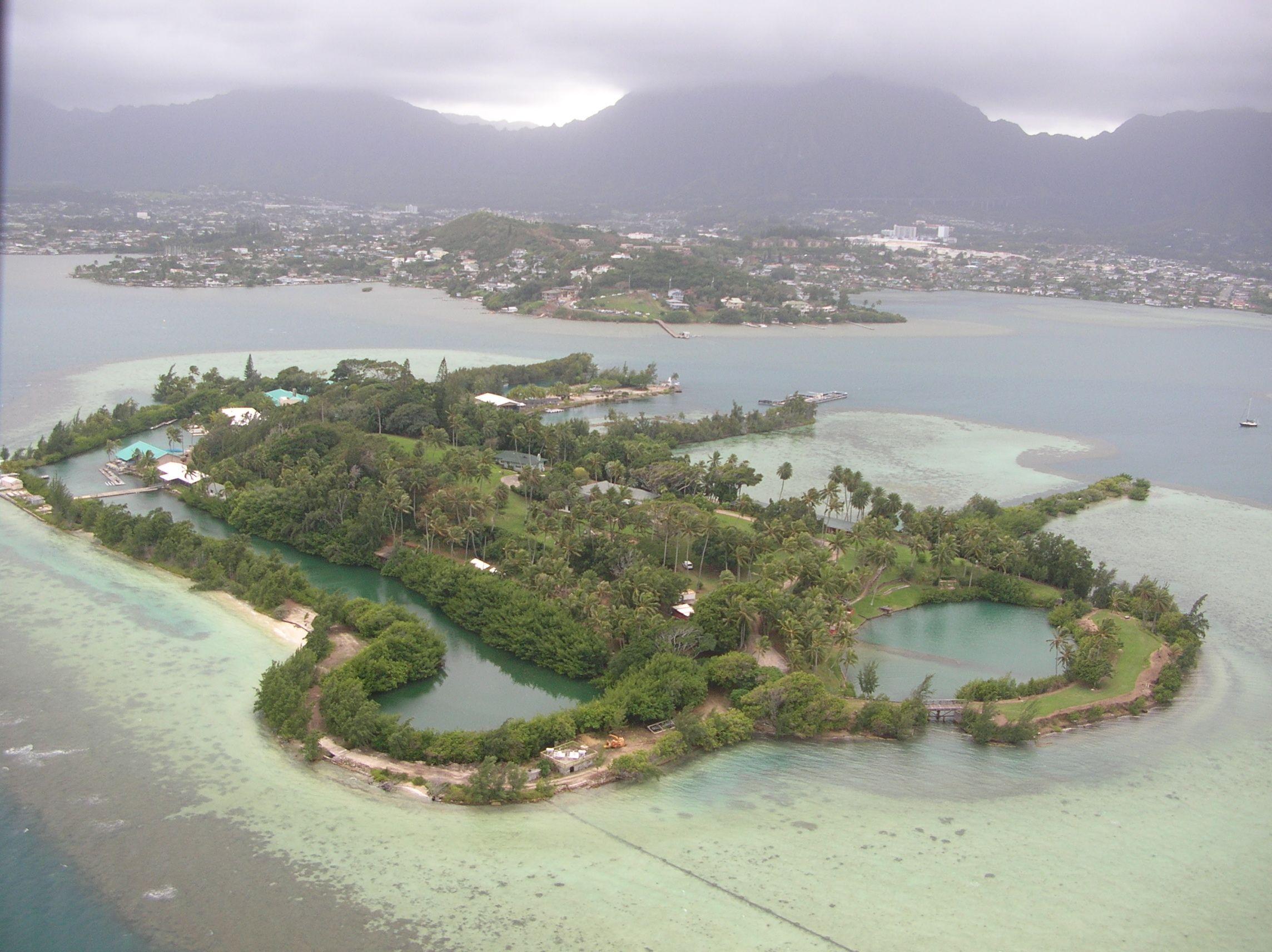 Coconut island in kaneohe bay oahu hawaii now the
