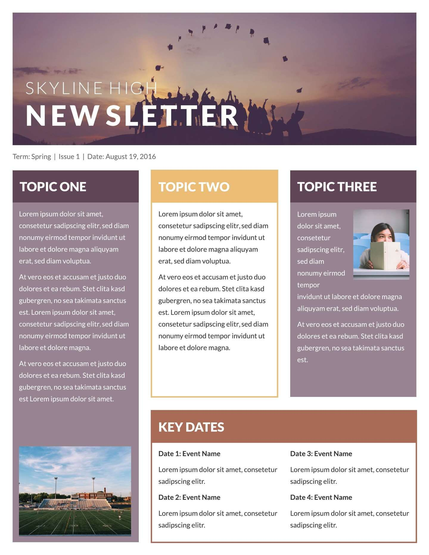 Free Newsletter Templates & Examples Newsletter template