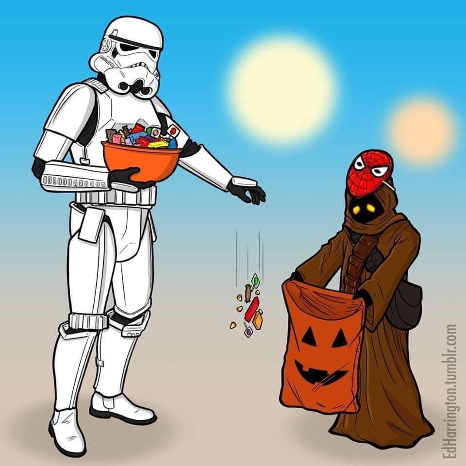 Happy Halloween 2k18 Star Wars Memes Star Wars Humor Star Wars Halloween