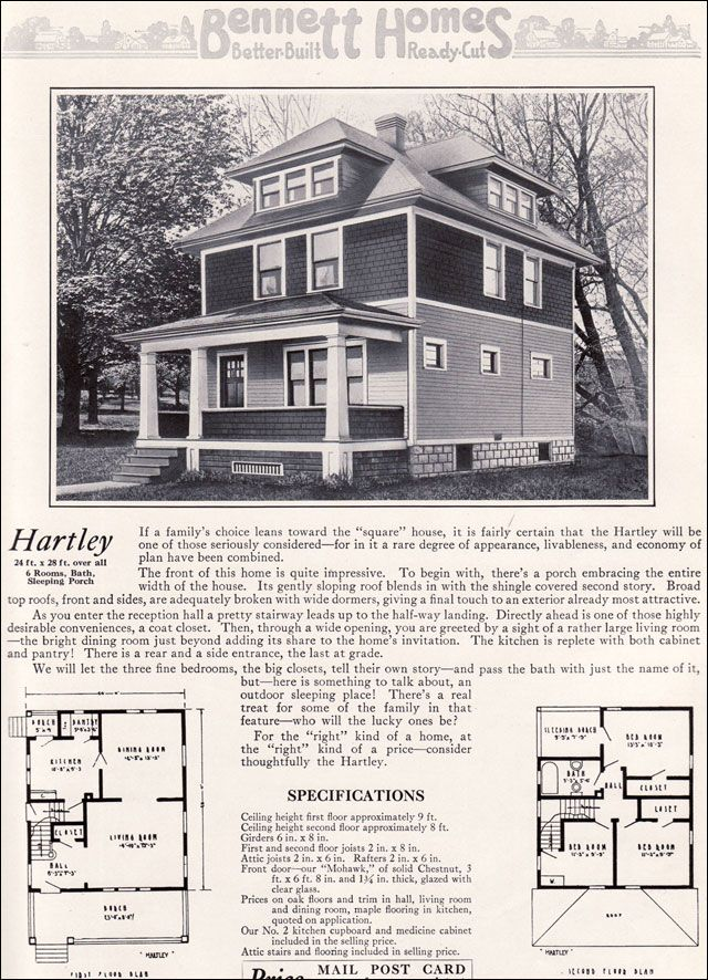 Ameerican Foursquare - The Hartley - 1922 Bennett Homes - Ray H ...