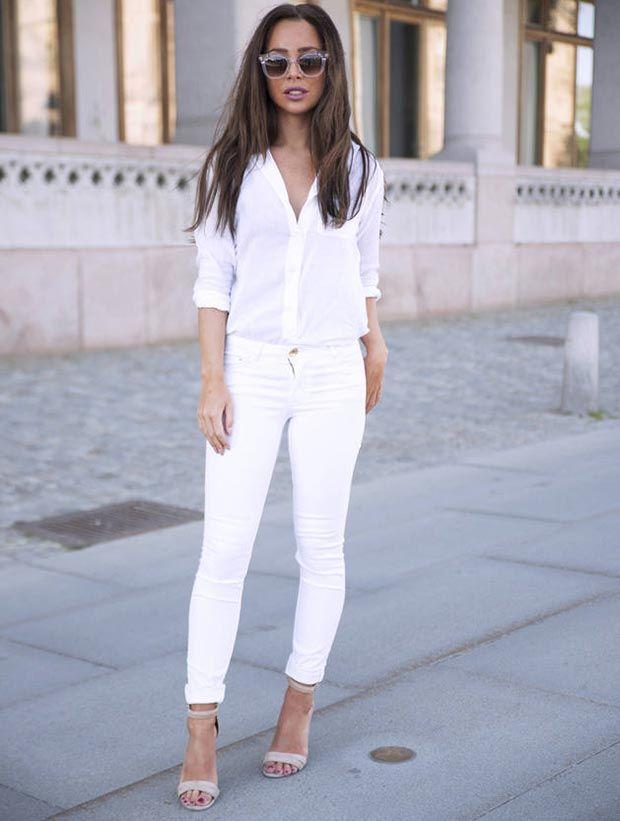 White Jeans White Shirt Ye Jean