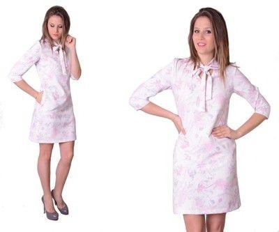 Sukienka Trapez Kokarda Biala Kwiaty Producent 38 6772458550 Oficjalne Archiwum Allegro Dresses Fashion Dresses For Work
