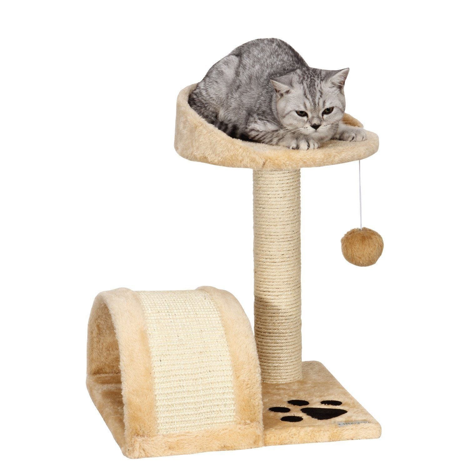 Ollieroo Small Cat Tree Sisal Scratching Post Furniture Playhouse Pet Bed Kitten Toy Cat Tower Condo For Ki Small Cat Tree Cat Tree Scratching Post Kitten Toys